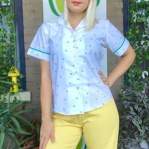 vintage 1980s Girl Scout uniform shirt blouse NWT